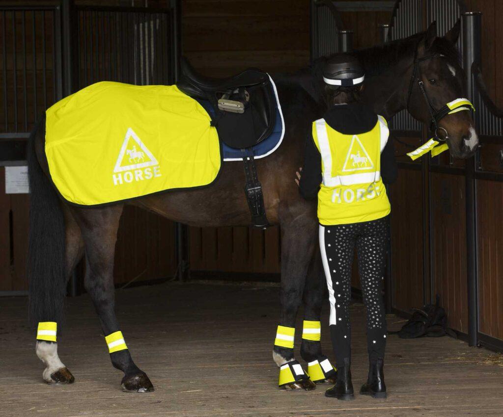 Pferd Reiter Reflexartikel