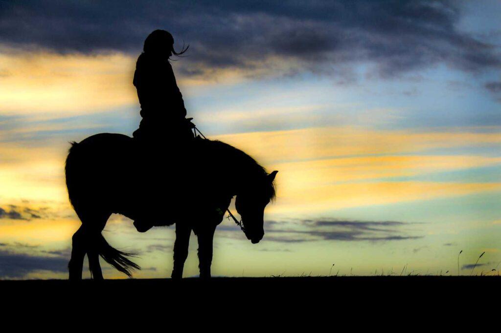 Westernreiter Sonnenuntergang